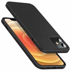 Husa iPhone 12 ESR Cloud Flexibila Din Silicon Si Microfibra - Negru