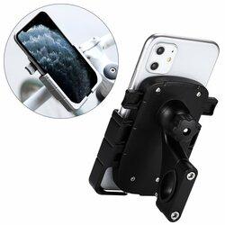 Suport Bicicleta / Motocicleta Mobster Pentru Telefon Aluminiu Cu Prindere Pe Ghidon - CD-668 - Negru