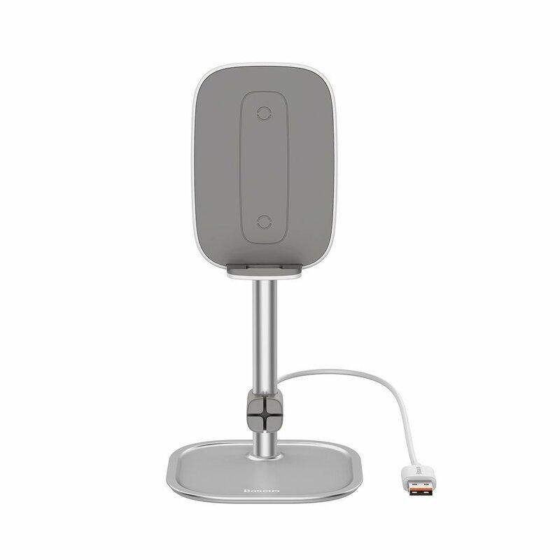 Suport Birou Baseus Cu Incarcare Wireless Pentru Telefon 15V - SUWY-D0S - Argintiu