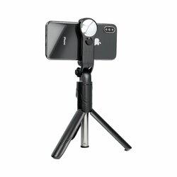 Suport Selfie Stick XT-09S Cu Trepied/Telecomanda Wireless/Oglinda - Negru