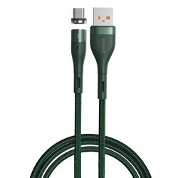 Cablu De Date Baseus Zinc Magnetic USB / Micro-USB 3A - 1m - CAMXC-K06 - Verde