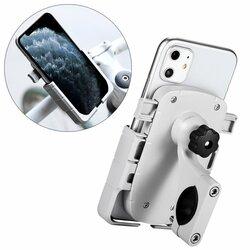 Suport Bicicleta / Motocicleta Mobster Pentru Telefon Aluminiu Cu Prindere Pe Ghidon - CD-668 - Alb