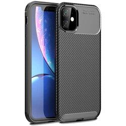 Husa iPhone 12 Carbon Fiber Skin - Negru