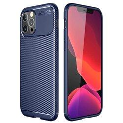 Husa iPhone 12 Pro Carbon Fiber Skin - Albastru