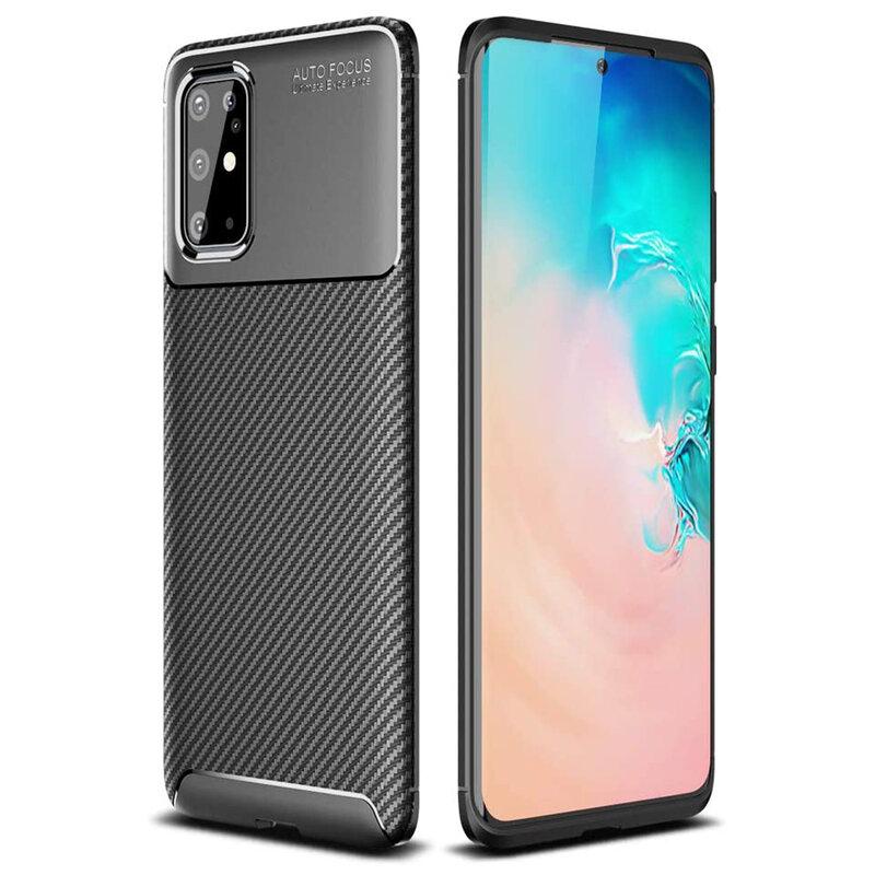 Husa Samsung Galaxy S20 Plus 5G Carbon Fiber Skin - Negru
