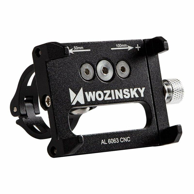 Suport Bicicleta Wozinsky Pentru Telefon Din Aluminiu Cu Prindere Pe Ghidon - WBHBK1 - Negru