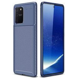 Husa Samsung Galaxy S10 Lite Carbon Fiber Skin - Albastru