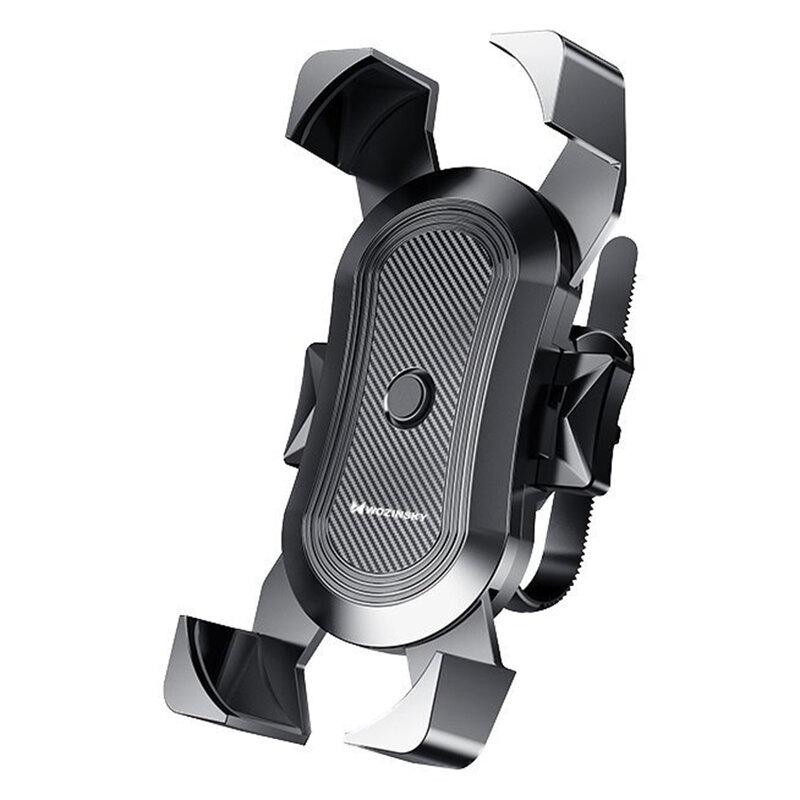 Suport Bicicleta/Motocicleta Wozinsky Ajustabil Pentru Telefon Cu Prindere Pe Ghidon - WBHBK2 - Negru