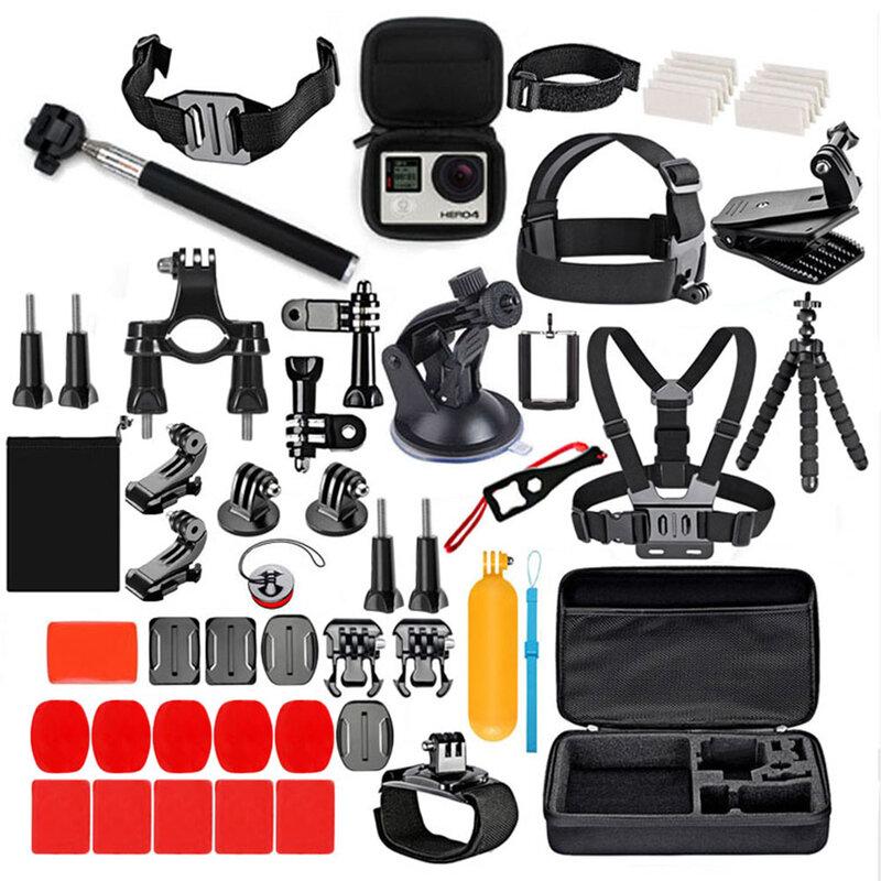 Set Accesorii GoPro Hero/Sony Action Camera/ Xiaomi Yi 77in1 Selfie Stick/ Suport Auto - Negru