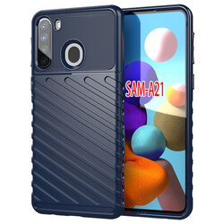 Husa Samsung Galaxy A21 Thunder Flexible Tough TPU - Albastru