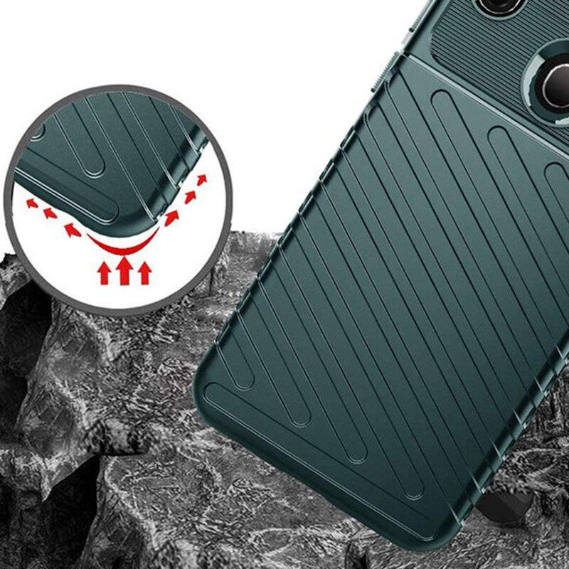 Husa Samsung Galaxy A21 Thunder Flexible Tough TPU - Verde
