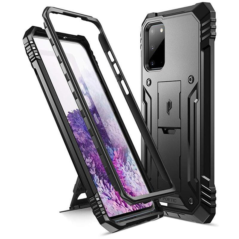 Husa Samsung Galaxy S20 5G Poetic Revolution + Bumper - Negru