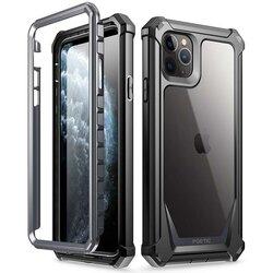 [Pachet 360°] Husa iPhone 11 Pro Max Poetic Guardian + Folie Ecran - Negru
