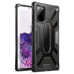 Husa Samsung Galaxy S20 Plus Poetic Affinity Transparenta - Negru