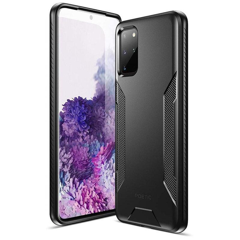 Husa Samsung Galaxy S20 Plus 5G Poetic Karbon Shield - Negru