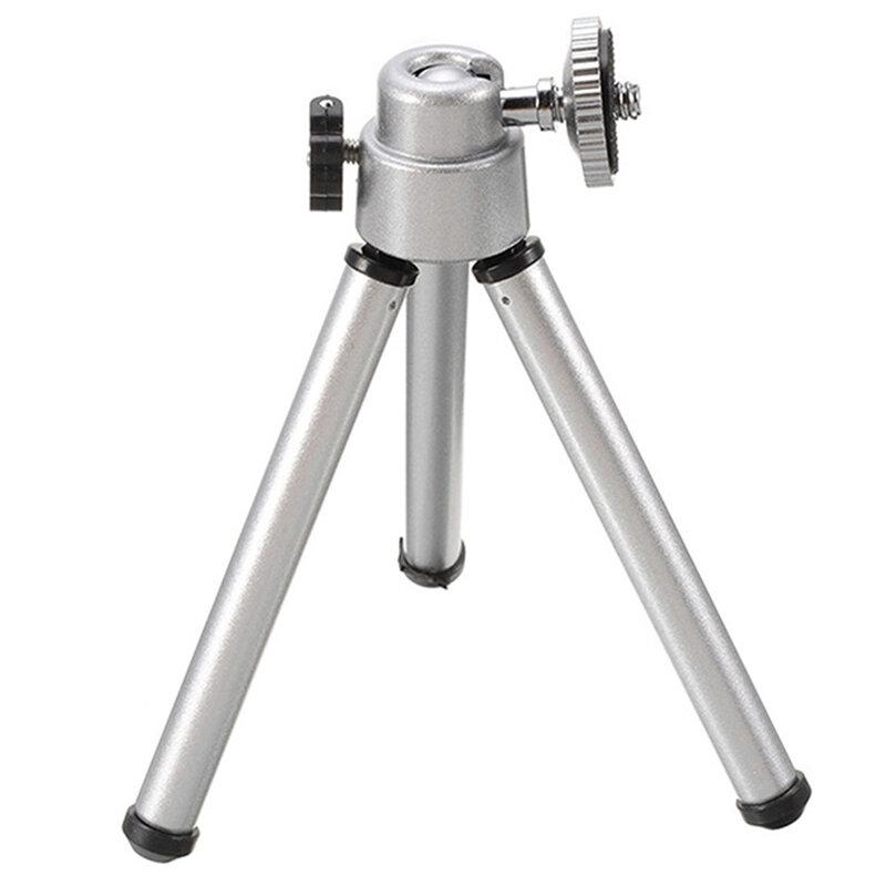 Suport GoPro, mini trepied, selfie stick, extensibil, aluminiu, argintiu