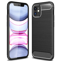 Husa iPhone 12 TPU Carbon - Negru