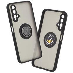 Husa Huawei Nova 5T Mobster Glinth Cu Inel Suport Stand Magnetic - Negru