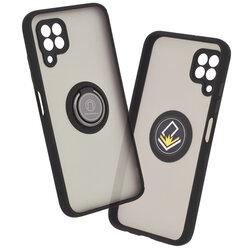 Husa Huawei P40 Lite Mobster Glinth Cu Inel Suport Stand Magnetic - Negru