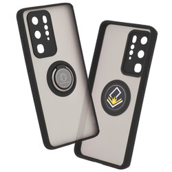Husa Huawei P40 Pro Mobster Glinth Cu Inel Suport Stand Magnetic - Negru