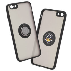 Husa iPhone 6 Plus / 6s Plus Mobster Glinth Cu Inel Suport Stand Magnetic - Negru