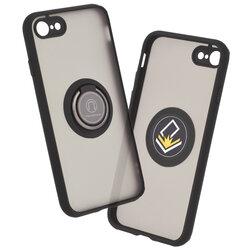 Husa iPhone SE 2, SE 2020 Mobster Glinth Cu Inel Suport Stand Magnetic - Negru