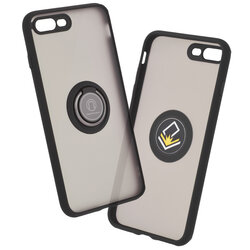 Husa iPhone 7 Plus Mobster Glinth Cu Inel Suport Stand Magnetic - Negru