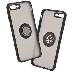 Husa iPhone 8 Plus Mobster Glinth Cu Inel Suport Stand Magnetic - Negru