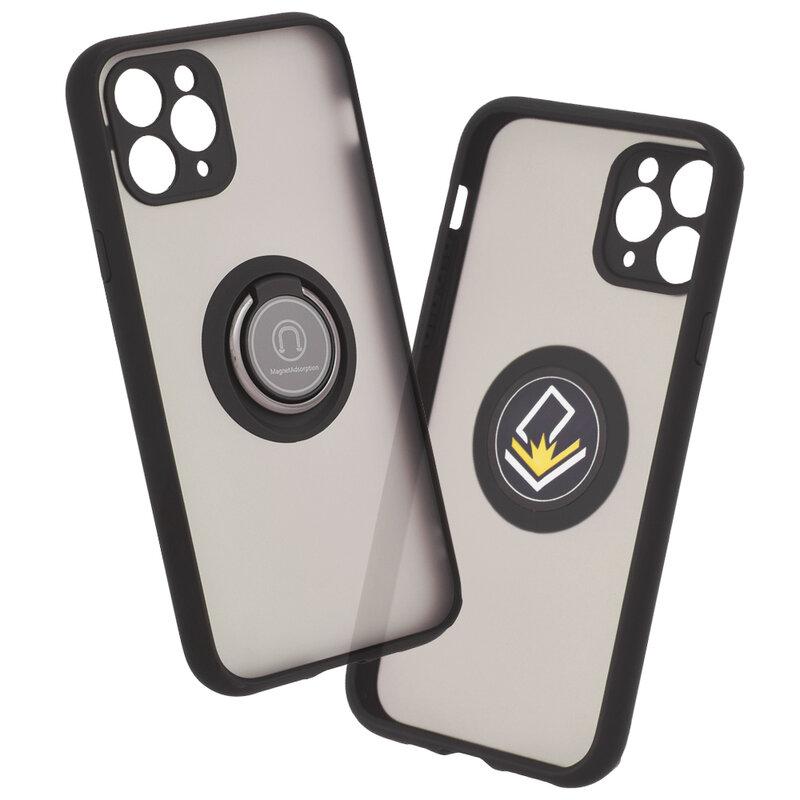 Husa iPhone 11 Pro Mobster Glinth Cu Inel Suport Stand Magnetic - Negru