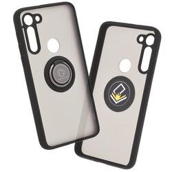Husa Motorola Moto G8 Power Mobster Glinth Cu Inel Suport Stand Magnetic - Negru