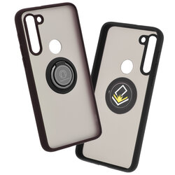 Husa Motorola Moto G8 Power Lite Mobster Glinth Cu Inel Suport Stand Magnetic - Negru