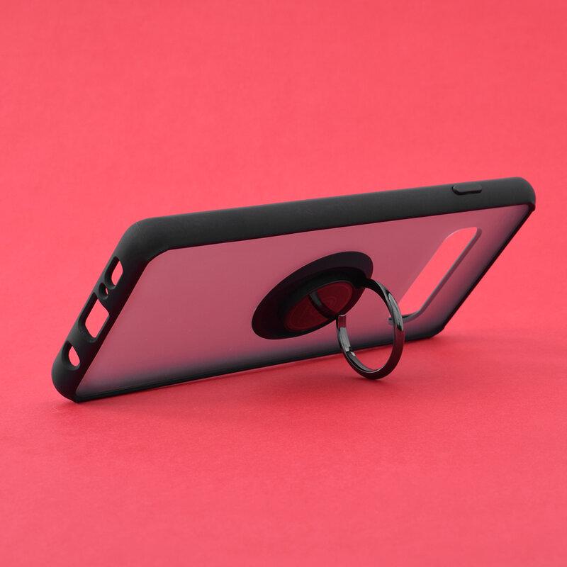 Husa Samsung Galaxy S10 Mobster Glinth Cu Inel Suport Stand Magnetic - Negru