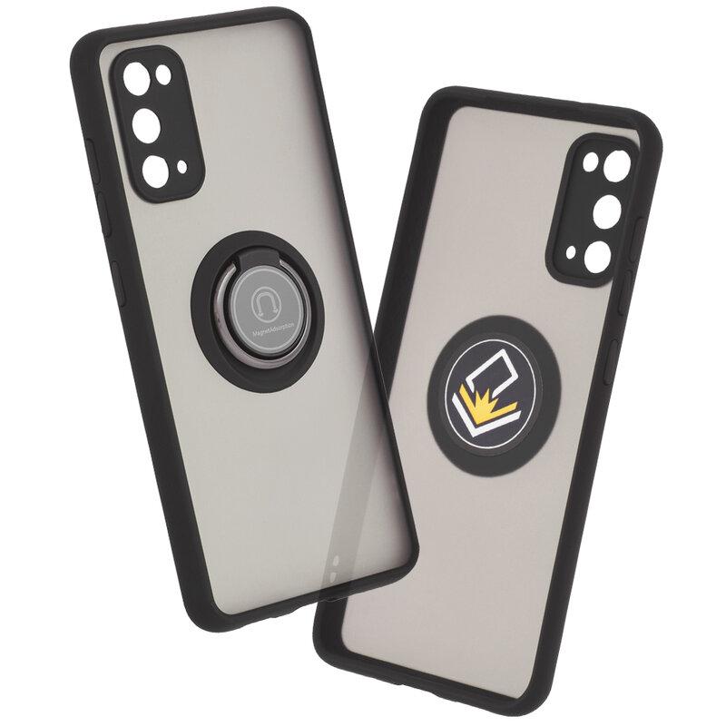 Husa Samsung Galaxy S20 5G Mobster Glinth Cu Inel Suport Stand Magnetic - Negru