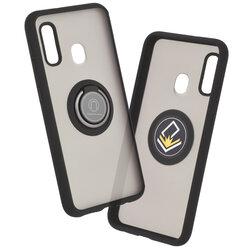 Husa Samsung Galaxy A20e Mobster Glinth Cu Inel Suport Stand Magnetic - Negru