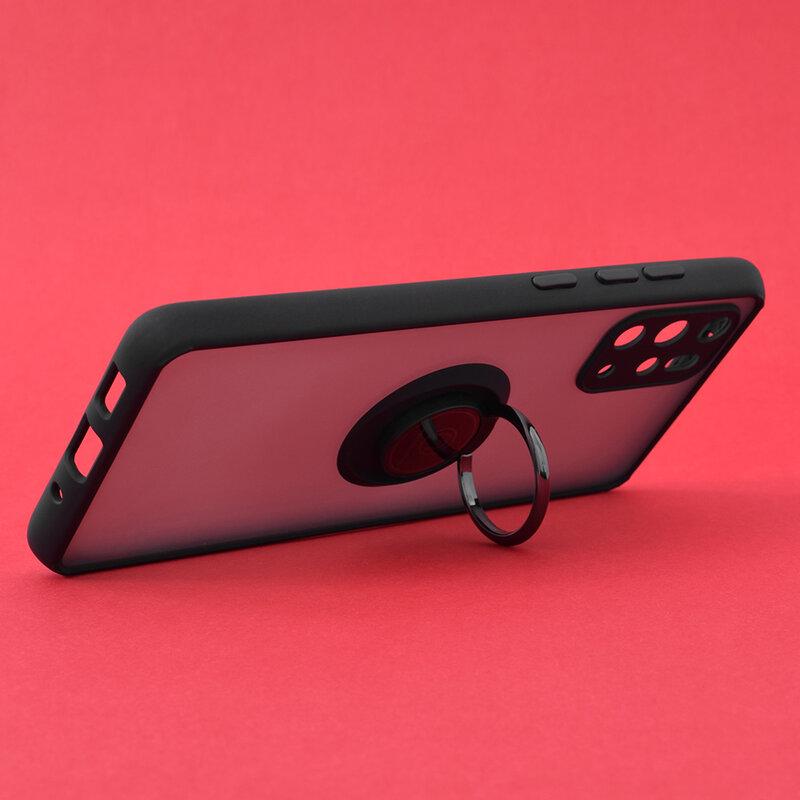 Husa Samsung Galaxy S20 Plus Mobster Glinth Cu Inel Suport Stand Magnetic - Negru