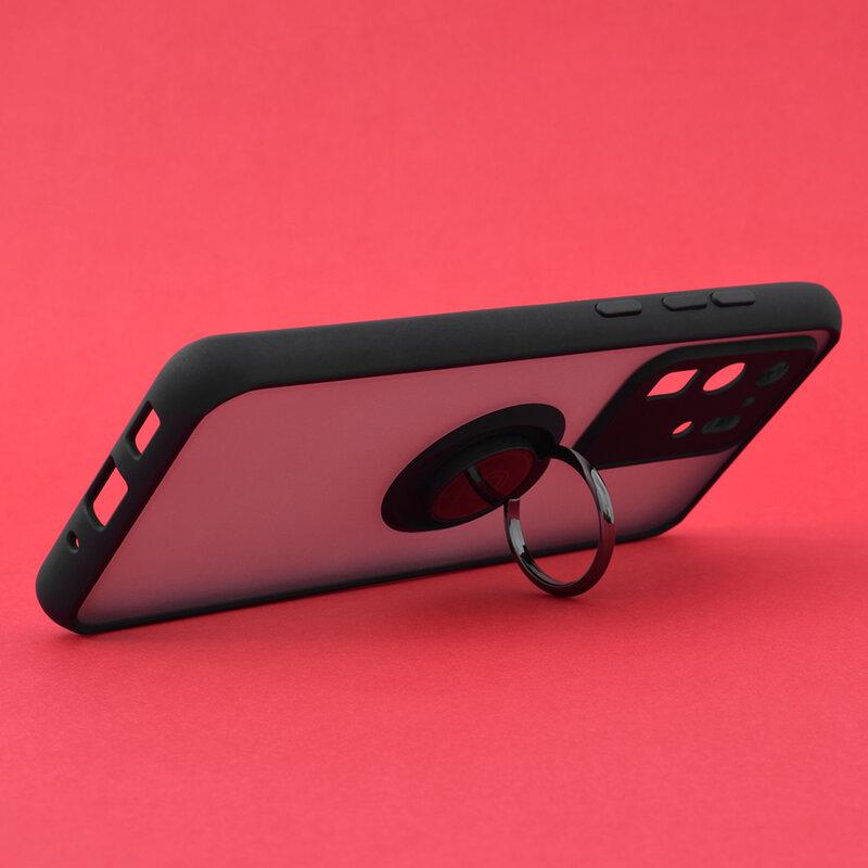 Husa Samsung Galaxy S20 Ultra 5G Mobster Glinth Cu Inel Suport Stand Magnetic - Negru