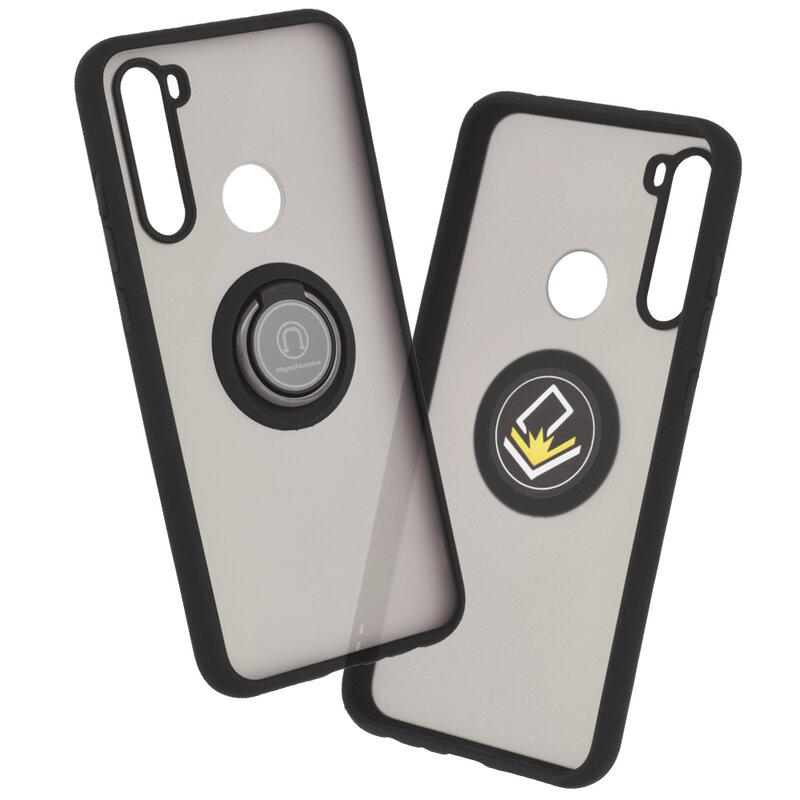 Husa Xiaomi Redmi Note 8 Mobster Glinth Cu Inel Suport Stand Magnetic - Negru