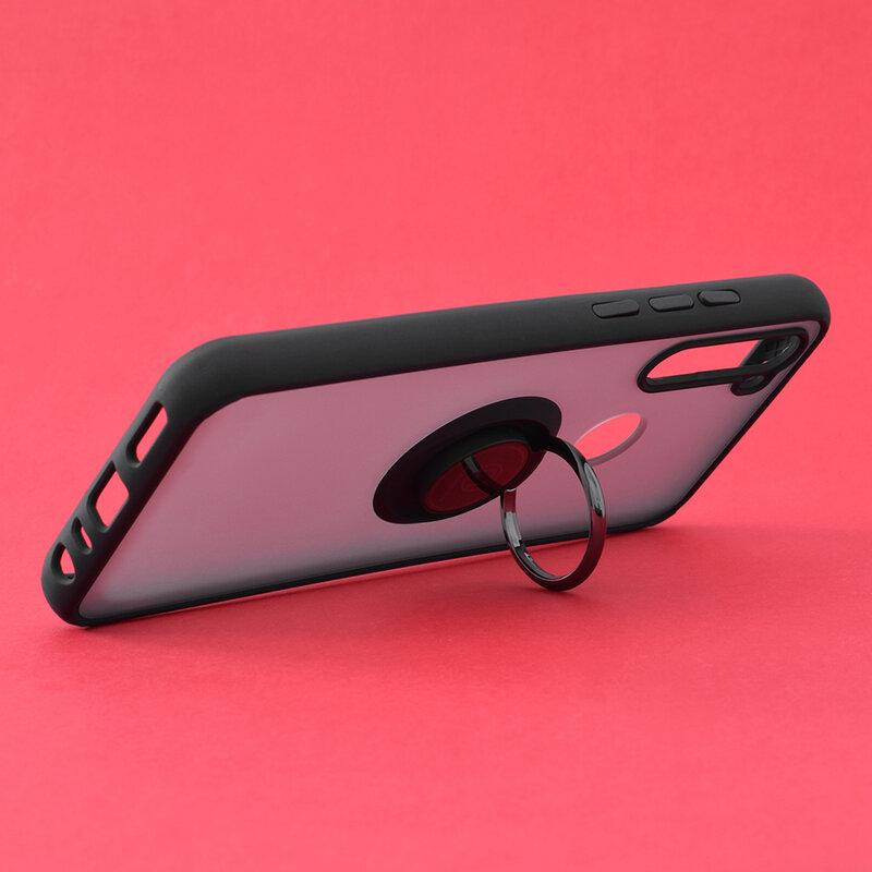 Husa Xiaomi Redmi Note 8T Mobster Glinth Cu Inel Suport Stand Magnetic - Negru