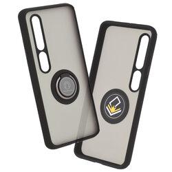 Husa Xiaomi Mi 10 Mobster Glinth Cu Inel Suport Stand Magnetic - Negru