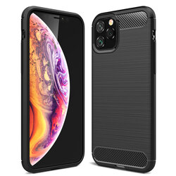 Husa iPhone 12 Pro Max TPU Carbon - Negru