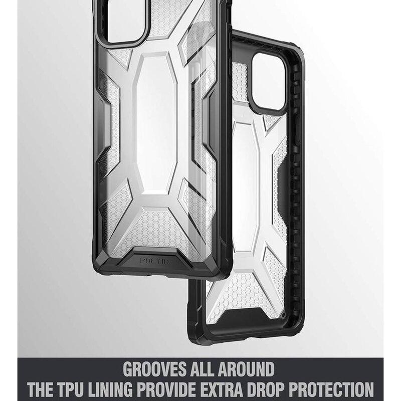 Husa iPhone 11 Pro Max Poetic Affinity Transparenta - Negru