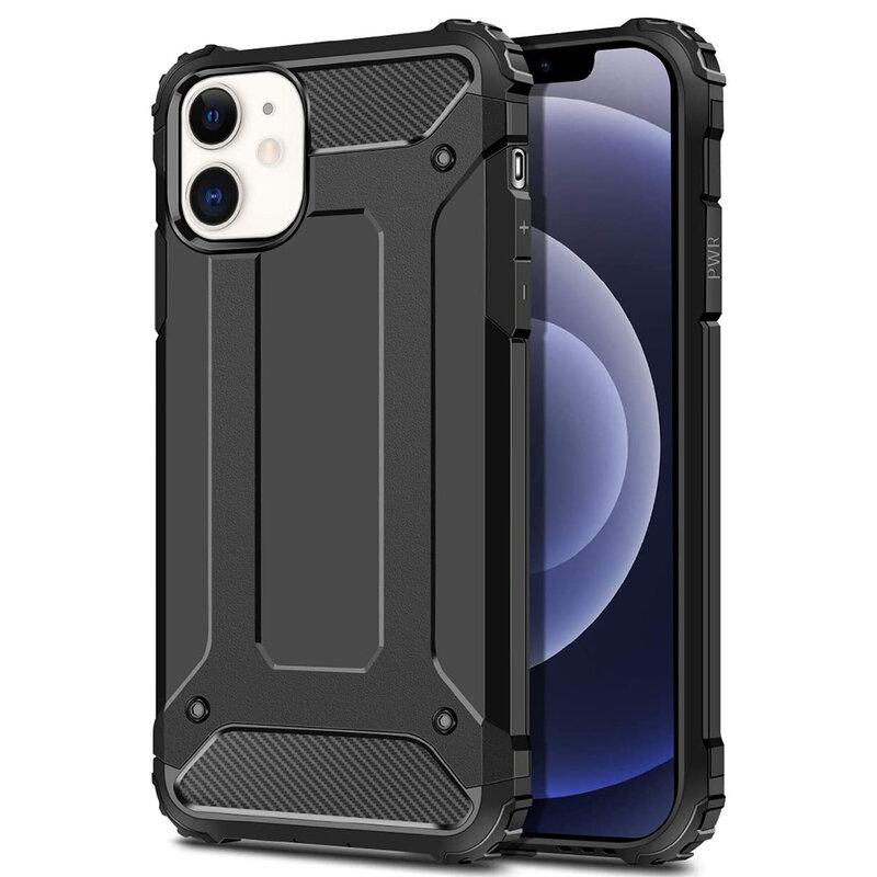 Husa iPhone 12 Hybrid Armor - Negru