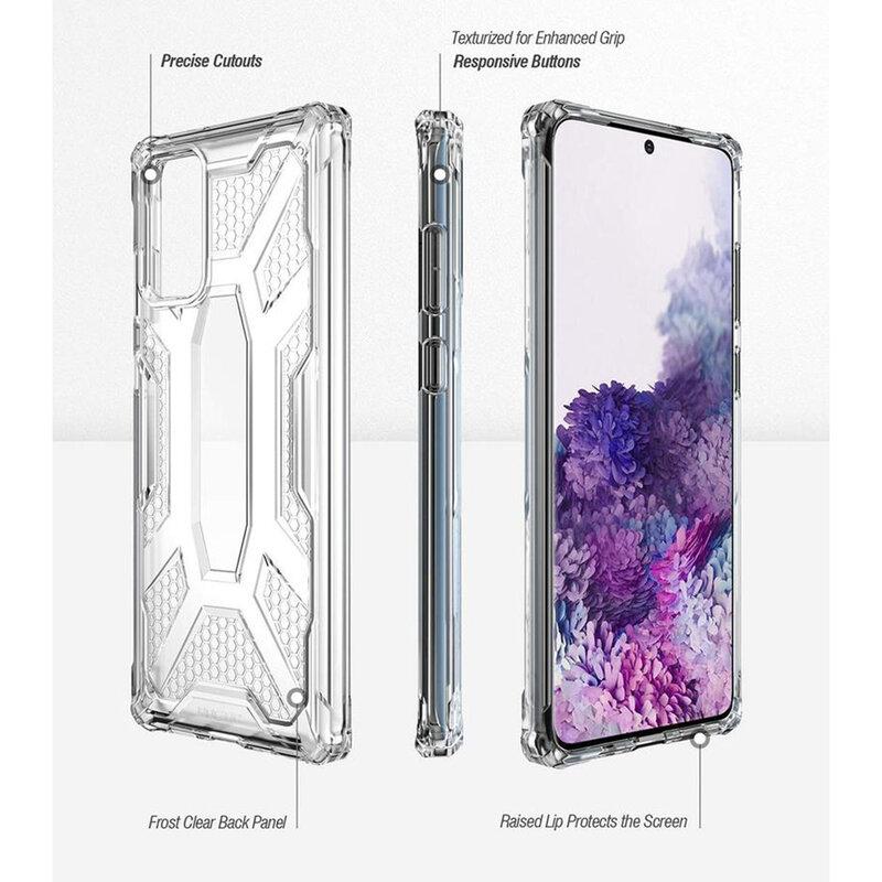 Husa Samsung Galaxy S20 5G Poetic Affinity Transparenta - Negru