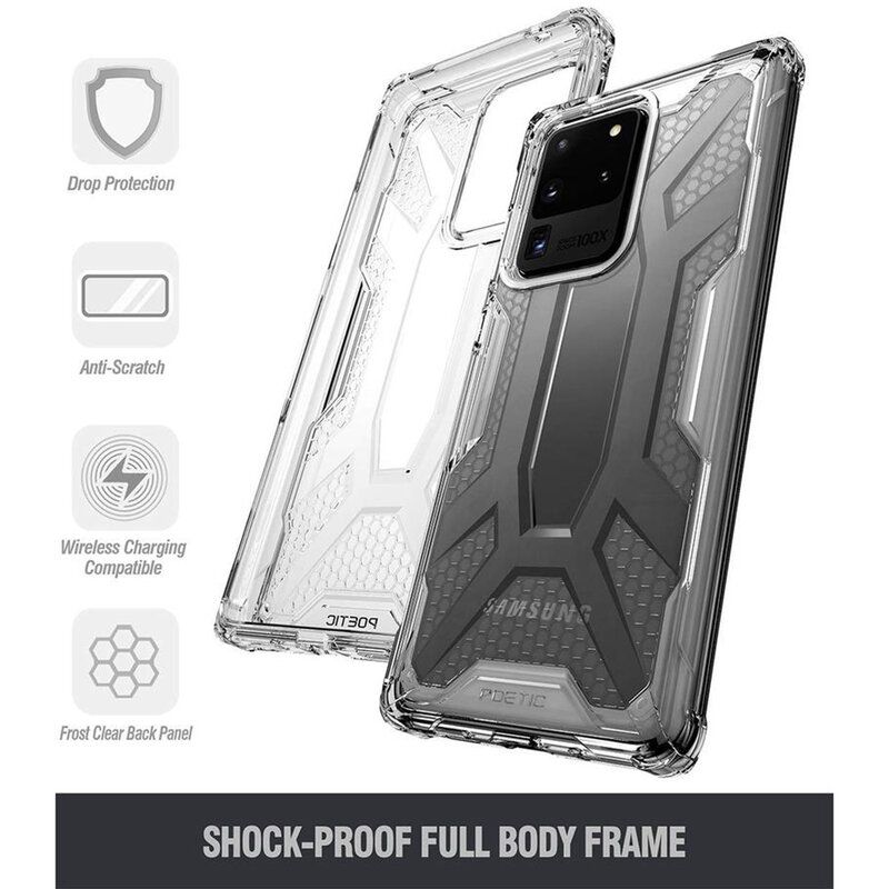 Husa Samsung Galaxy S20 Ultra 5G Poetic Affinity Transparenta - Negru