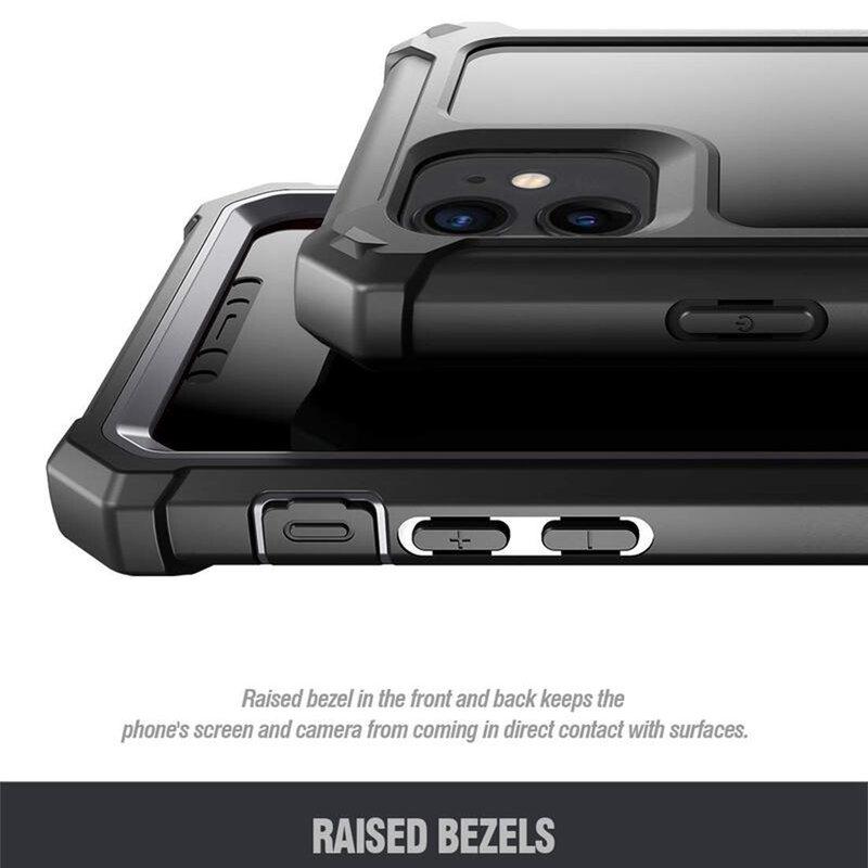 [Pachet 360°] Husa iPhone 11 Poetic Guardian + Folie Ecran - Negru