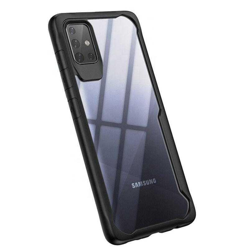 Husa Samsung Galaxy A51 Mobster Glaast Series Transparenta - Negru