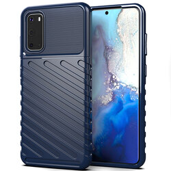 Husa Samsung Galaxy S20 5G Thunder Flexible Tough TPU - Albastru