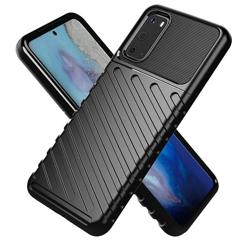 Husa Samsung Galaxy S20 5G Thunder Flexible Tough TPU - Negru