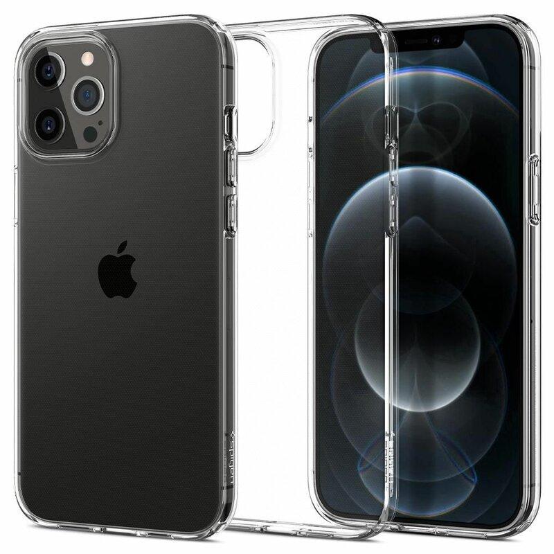 Husa iPhone 12 Pro Spigen Liquid Crystal - Clear