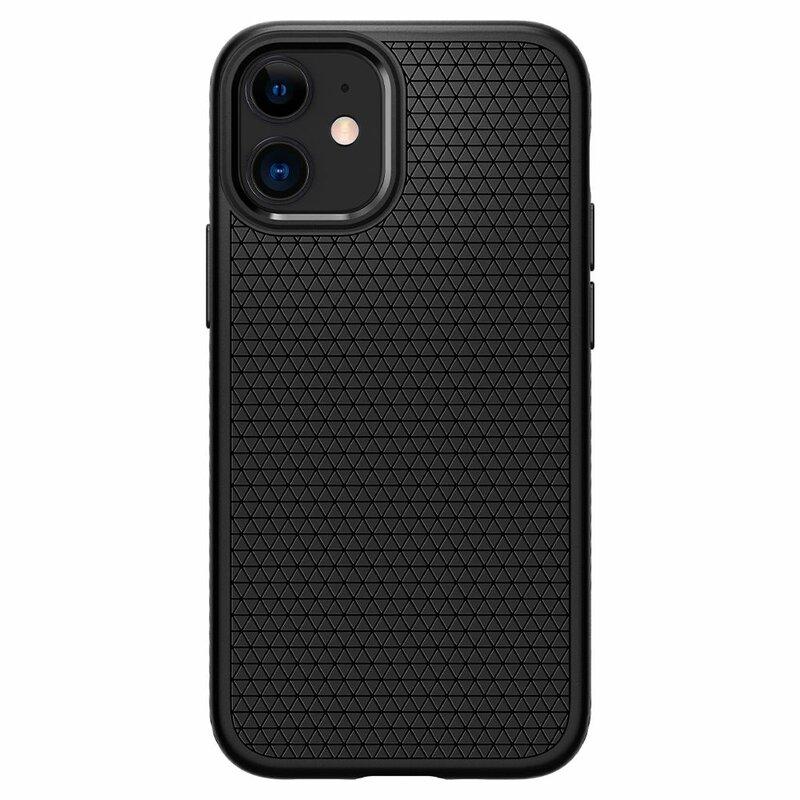 Husa iPhone 12 Spigen Liquid Air - Matte Black